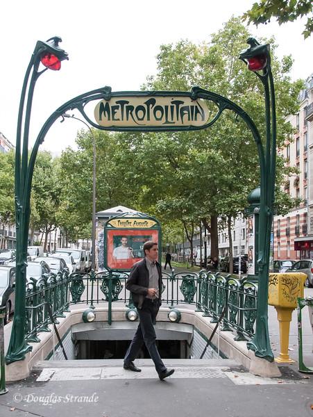 Metro station entrance