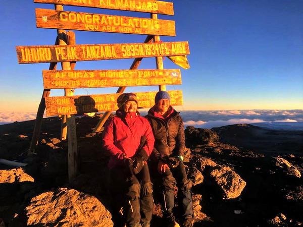 Mount Kilimanjaro, Aug. 2017...Ann & Cathy