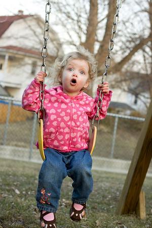 3-6-2009 Outside on Swings