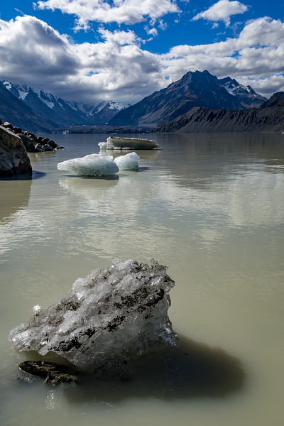«Tasman Glacier»: Blick vom Gletschersee