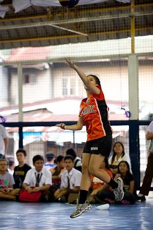 HS Girls volleyball SFAMSC vs SHSC 2014-2015