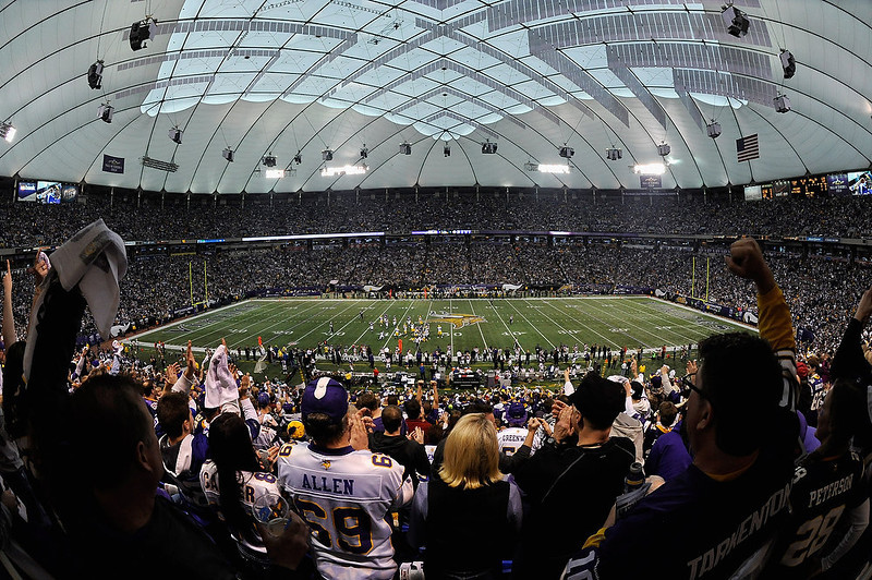 . MINNEAPOLIS, MN - DECEMBER 30: A general view of Mall of America Field at the Hubert H. Humphrey Metrodome during the first quarter of the game between the Minnesota Vikings and the Green Bay Packers on December 30, 2012 in Minneapolis, Minnesota. (Photo by Hannah Foslien/Getty Images)