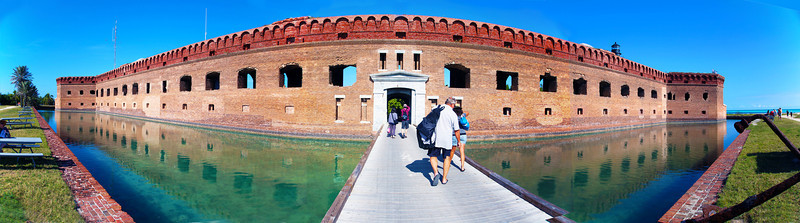 Panorama of the Fort Jefferson sally port entry