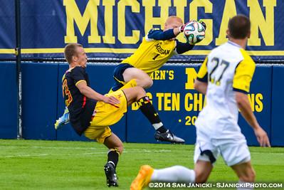 Best of UM Men's Soccer Vs Maryland 9-12-14