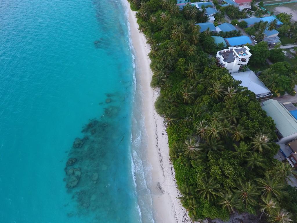 Dhigurah Island Beach Drone