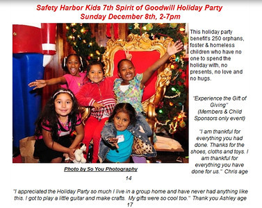 2013-12-08, Safety Harbor Kids 7th Spirit of Goodwill Party
