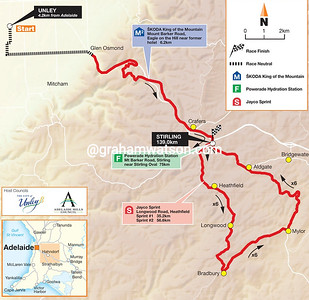 Stage 3 Unley > Stirling, 139kms