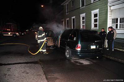 Car fire - Hazleton 2nd & Church St. 11-9-12