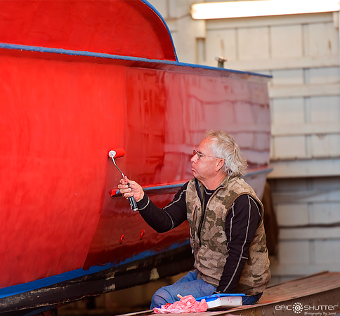 March 2015, Charter Fisherman getting their boats ready for the 2016 Tourism Charter Season