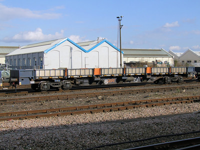 FEA-S (GBRf Infrastructure) - 60 Foot Bogie Flat Wagon