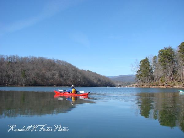 Lake James Paddle 02/01/09