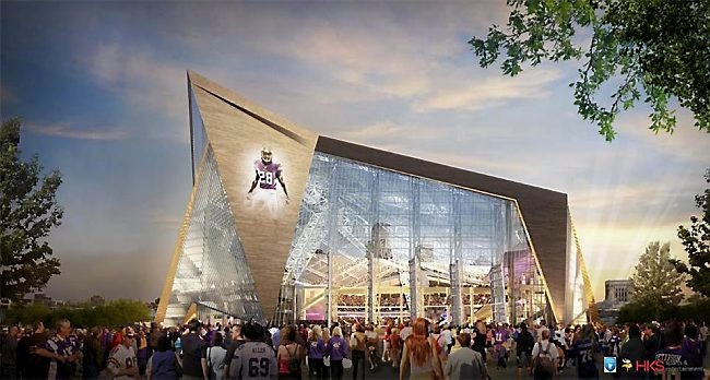 """. 5. NEW VIKINGS STADIUM <p>Expected to be a smash for 125 species of native migratory birds. (unranked) </p><p><b><a href=\""""http://www.twincities.com/vikings/ci_26203401/vikings-stadium-glass-threat-birds-audubon-society-says\"""" target=\""""_blank\""""> LINK </a></b> </p><p>   (Photo courtesy of Minnesota Vikings)</p>"""