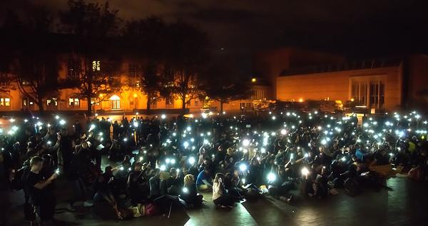 Univ. of Washington Rally support for Hong Kong Democracy