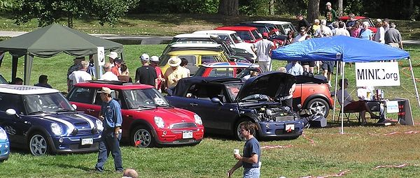 Some of the MINIs present, near the www.MINI5280.org tent.
