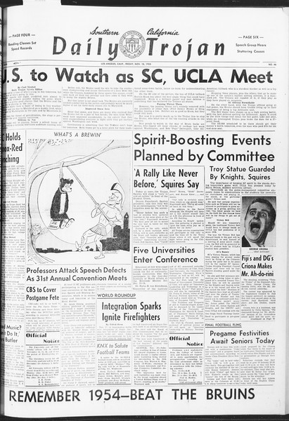 Daily Trojan, Vol. 47, No. 46, November 18, 1955