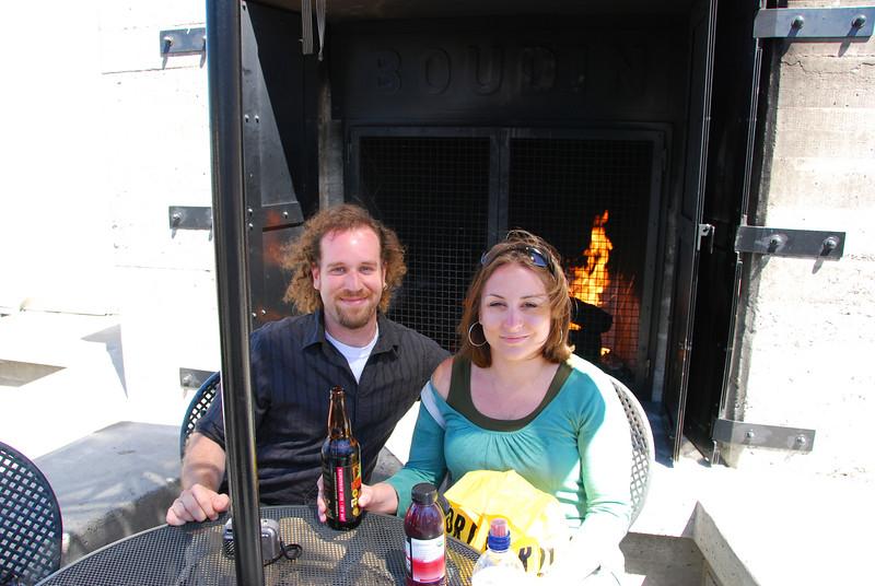 John and Megan at Boudins.