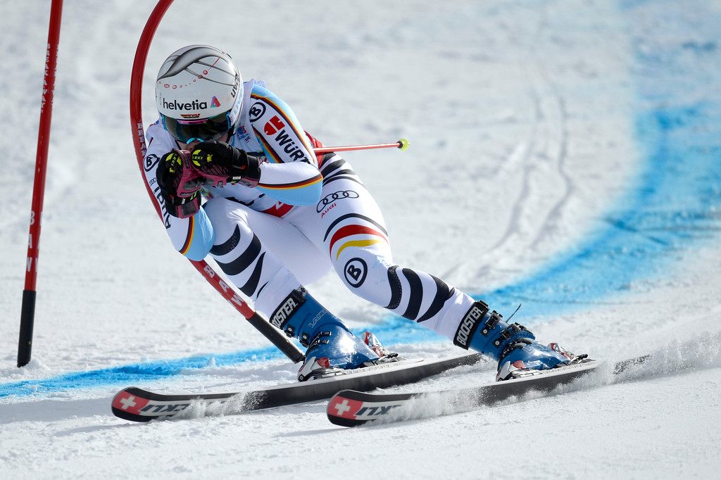 . BEAVER CREEK, CO - FEBRUARY 12: Viktoria Rebensburg of Germany competes during the ladies\' giant slalom. FIS Alpine World Ski Championships 2015 on Thursday, February 12, 2015. (Photo by AAron Ontiveroz/The Denver Post)