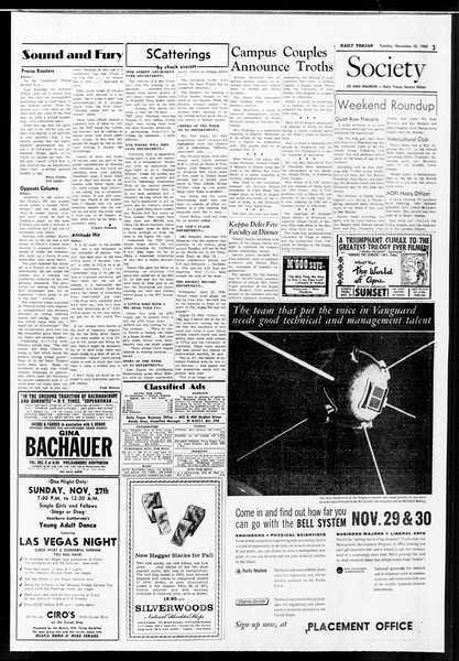 Daily Trojan, Vol. 52, No. 47, November 22, 1960
