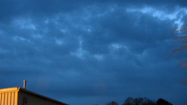 February 29:  Clouds rolling in .  .  .