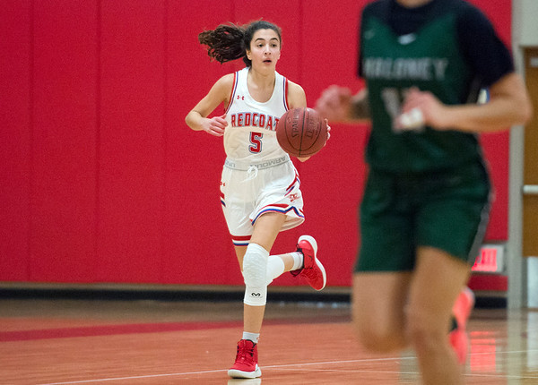 12/20/19 Wesley Bunnell | StaffrrBerlin girls basketball defeated Maloney on Monday night at home 44-20. Alivia Halkias (5).