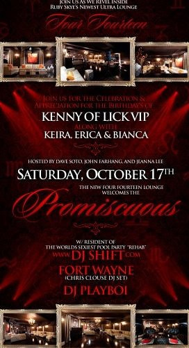 Promiscuous @ 414 Ultra Lounge inside Ruby Skye 10.17.09