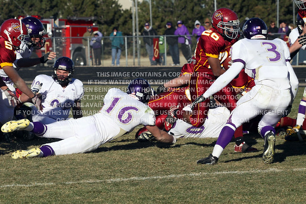Brush High School Football vs Bayfield High School 2011 2A Football State Playoffs
