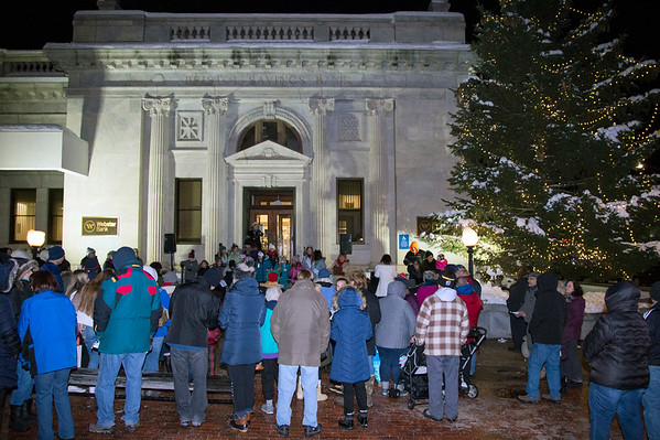 12/03/19 Wesley Bunnell | Staff The 68th annual Bristol Carol Sing and 29th annual Tree Lighting presented by Webster Bank and the Central CT Chambers of Commerce took place on Tuesday night outside to Webster Bank at 150 Main St.