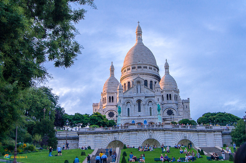 Sacre-Coeur at sunset.