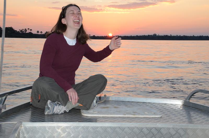 112 - A good joke on the Zambesi - Zambia - Anne Davis