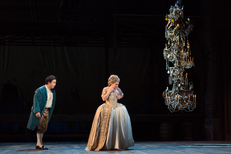 """Andrew Stenson as Candide and Kathryn Lewek as Cunegonde in The Glimmerglass Festival's 2015 production of Bernstein's """"Candide."""" Photo: Karli Cadel/The Glimmerglass Festival."""