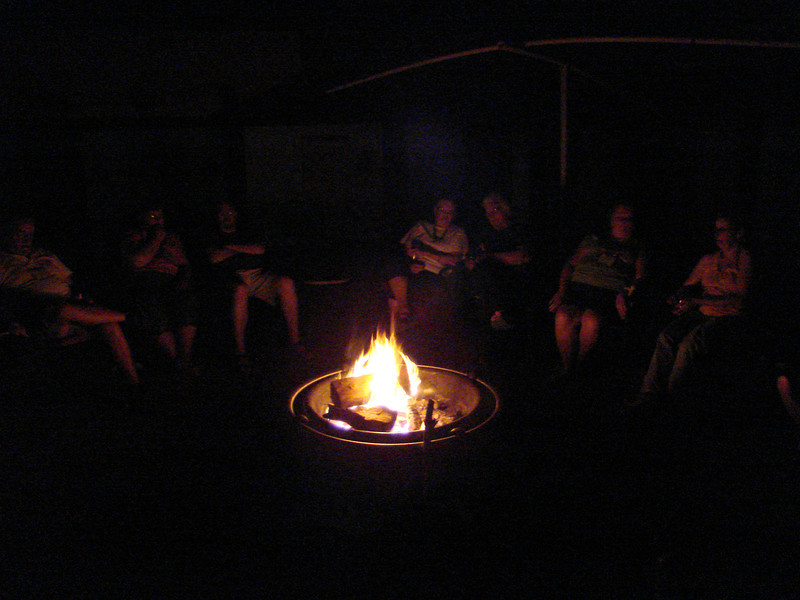 We enjoy sharing our lives around the fire,