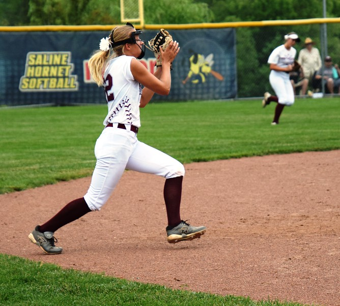Flat Rock fell by a score of 12-4 on Tuesday against Eaton Rapids in a Division 2 state quarterfinal at Saline.  Photo by Alex Muller - For The News-Herald