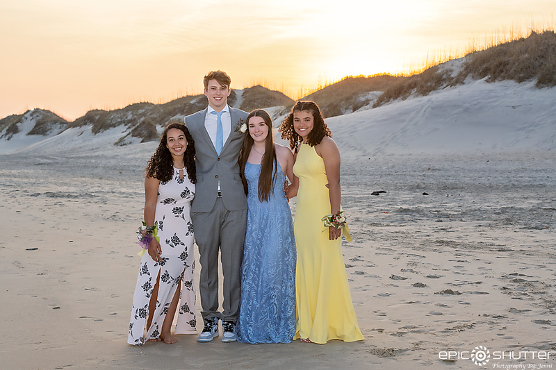 Reese Anne's Prom Portraits, COVID19 Prom, Frisco, North Carolina