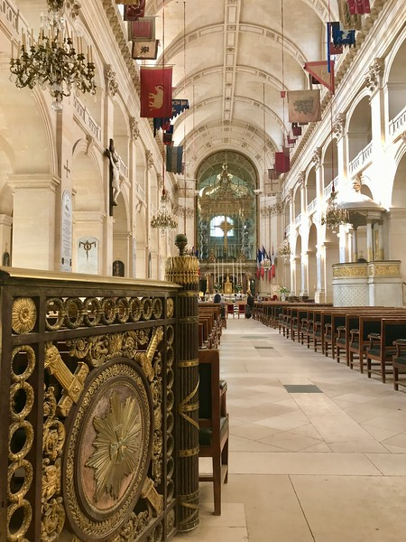 Interior of Soldier's Church, one of many buildings in the complex of Les Invalides