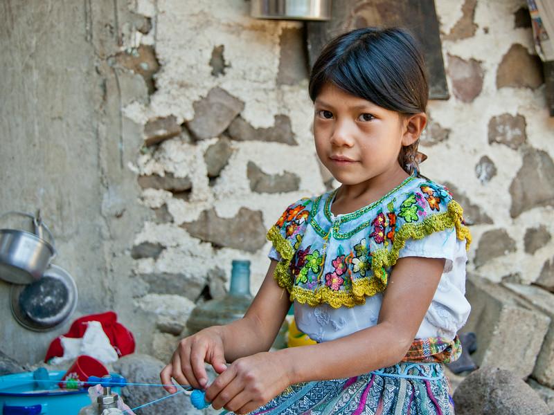 Mayan Girl, Guatemala - 12x16, $135