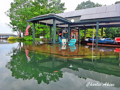 Flooded Docks at Smith Mountain Lake