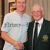 The Gross prize winner, Richard Brennan with President with Joe Molloy.