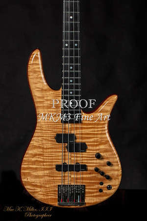 Monarch Flame Maple 4 String Bass  No.  1954