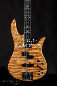 Monarch Flame Maple 4 String Bass in Color
