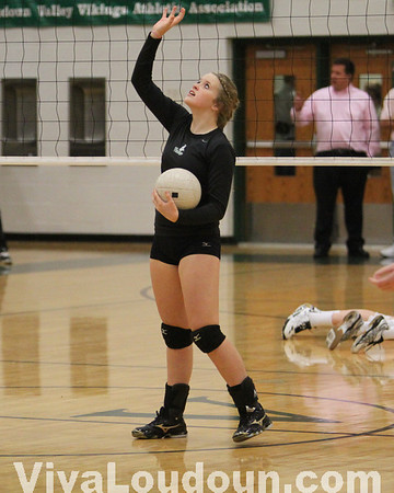 Volleyball: Heritage vs. Loudoun Valley - Dig Pink 2010