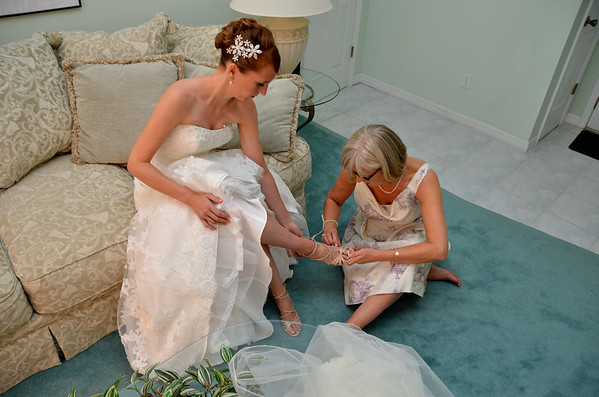 Examples:  Preparations Prior to Arriving at Church or Wedding Site