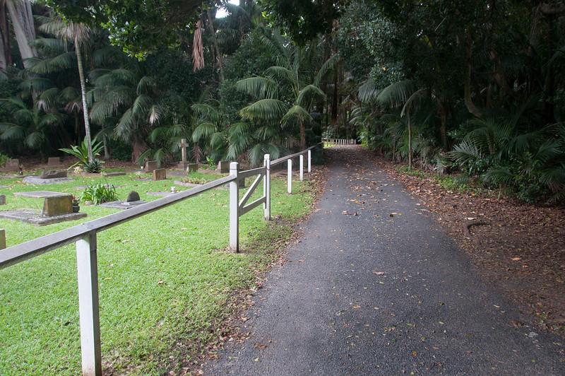 Walkway near cemetery in Lord Howe Island