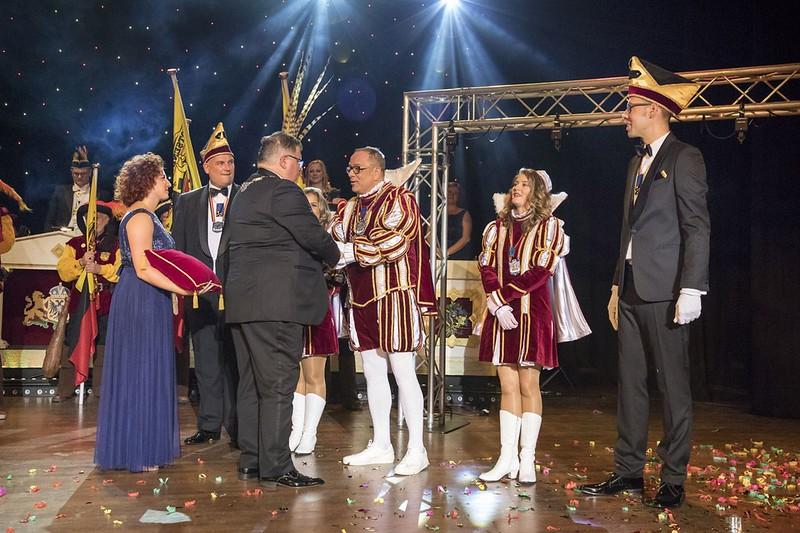 Kabinet van Prins Peter den Tweede met burgemeester Hubert Bruls