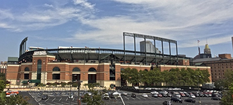 Right next door is the Orioles Park at Camden Yards.  I saw the Orioles play the Chicago White Sox there a couple of years ago.