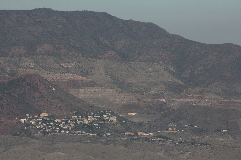 town of Jerome from the balloon (notice the J)