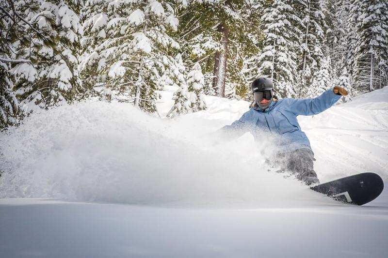 snowboarder slash