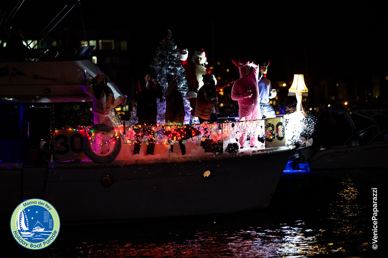 Marina del Rey Holiday Boat Parade. mdrboatparade.org.  Photo by Venice Paparazzi