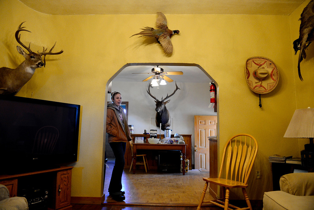 . ROCKY FORD, CO - FEBRUARY 25: Jenny Holder stands in the guest cabin of her father in law\'s hunting company New Dale Pheasant and Quail in Rocky Ford. Gun owners in southern Colorado largely agree that responsible ownership begins at home. (Photo by AAron Ontiveroz/The Denver Post)