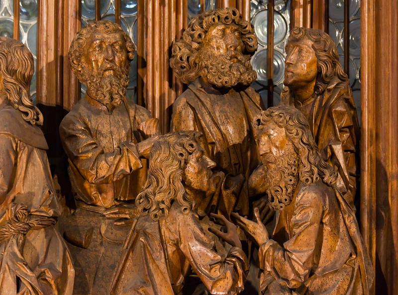 Rothenburg. St. Jakob, Heiligblutaltar, Mittelschrein, Apostel rechts