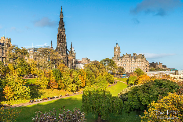 Autumn in Princes Street Gardens